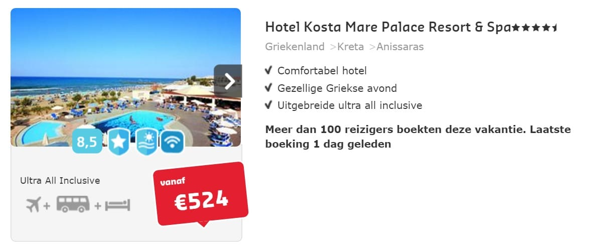 hotel kosta mare palace resort