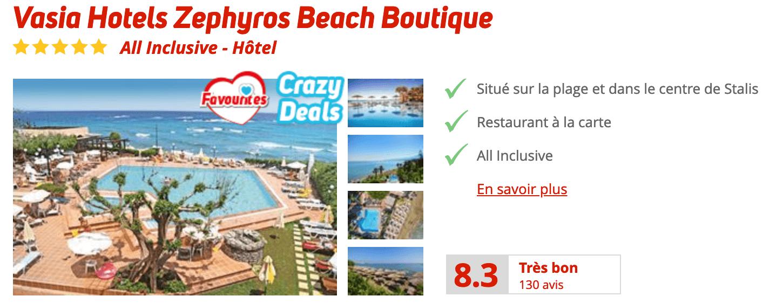 Vasia Hotels Zephyros Beach Boutique